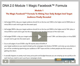 Dna wealth blueprint special re opening the magic facebook formula to hitting your daily budget and target audience finally revealed malvernweather Choice Image